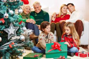 weihnachtliche Familienidylle